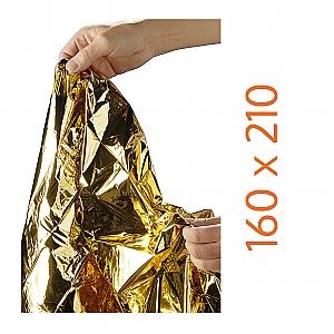 HEKA reddingsdeken goud/zilver - afmeting 160 x 210 cm