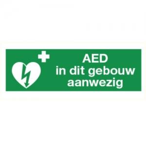 AED in dit gebouw aanwezig - ILCOR sticker