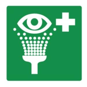 Oogdouche Pictogram - polypropyleenplaat
