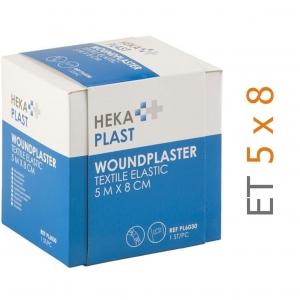 HEKA pleisterrol ET elastische textiel - 5 m x 8 cm - in dispenser