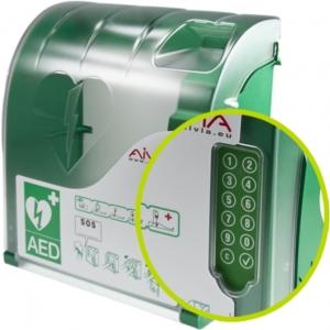 AED (buiten) wandkast Aivia 210 met PIN en alarm
